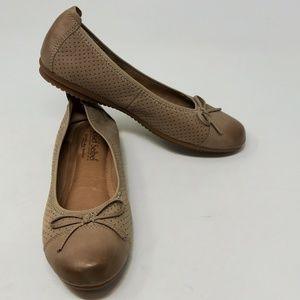 Josef Seibel Pippa Tan Suede Padded Ballet Flats